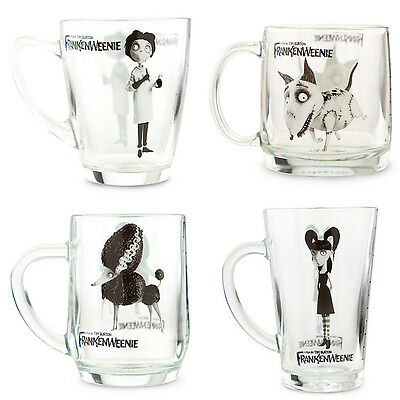 FRANKENWEENIE Glass MUG Gift Set - SPARKY Victor ELSA VAN HELSING Persephone