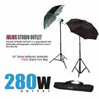 "Pro Bike Gear Reflector Studio 33"" Umbrella Photo Lighting Kit 35w"