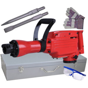 Dual-Insulated-Electric-Demolition-Jack-Hammer-Concrete-Breaker-Punch-Chisels-HD