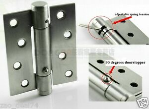 2 Of 4 Quot Spring Door Hinges Square Corner Stainless Steel