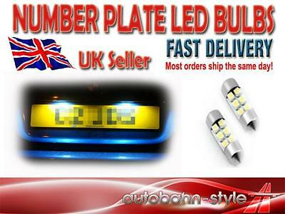 6 LED SMD NUMBER PLATE BULBS HIGH POWER FANTASTIC UPGRADE 6000K XENON WHITE !!