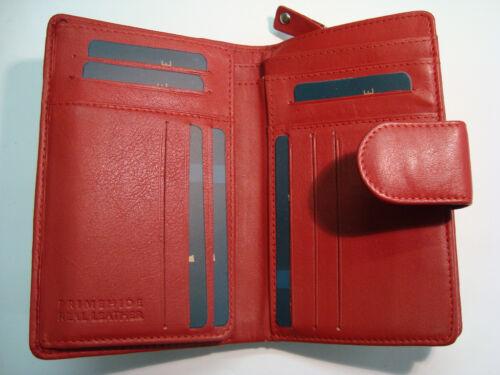MORBIDA Pelle Donna Portamonete Wallet 18 carte di credito slot