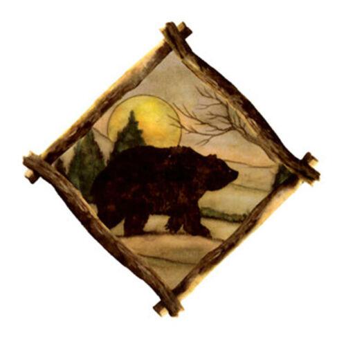 "2 Bear Moose Buffalo Wolf Owl 2/"" Select-A-Animal Waterslide Ceramic Decals Tx"