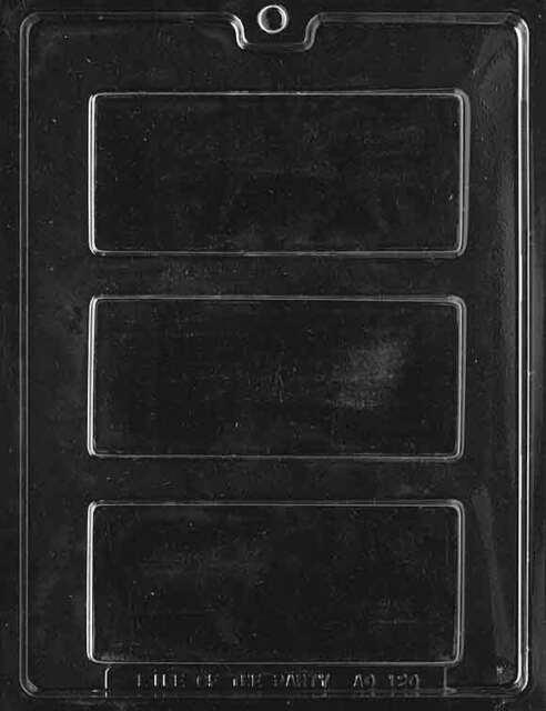 Candy Traditional CANDY BAR Chocolate Candy Mold Soap 5 1/2 x 2 1/4 x 1/4
