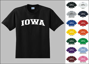 State of iowa college letters t shirt ebay for University of iowa shirts