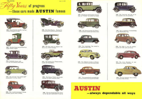 "AD31 Vintage Austin Motor Car Advertising Poster A3 17/""x12/"" Re-print"