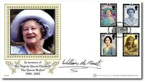 BUCKNGHAM-COVERS-QUEEN-MOTHER-TRIBUTE-FDC-SIGNED-WILLIAM-DE-ROUET