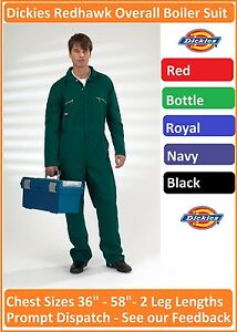 Dickies-Redhawk-Zip-Front-Coverall-Overall-Boiler-Suit-Workwear-Mechanic-WD4839