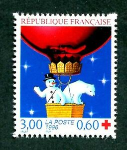 STAMP-TIMBRE-FRANCE-NEUF-N-3039-CROIC-ROUGE-OURS-BLANC