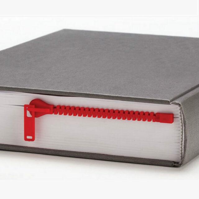 New RED Zipmark PELEG Design ZIPPER Bookmark BOOK Page HOLDER Novelty GIFT Idea