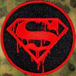 ZOMBIE-HUNTER-TACTICAL-SUPERMAN-DEATH-MORALE-PATCH-W-VELCRO-THE-WALKING-DEAD