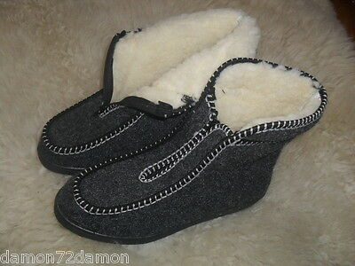 BOOTS felt,sheepskin slippers front zip  EU36,37,38,39,40,41,42,43,44,45,46