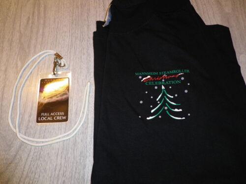 Mannheim Steamroller Local Crew limited ed. T-shirt w/pass Brand New/Never Worn