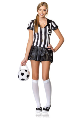 Girl's Referee Game Official Dress Outfit Kids Juniors Teens Halloween Costume