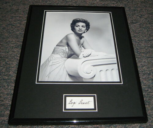 Gogi Grant BEAUTIFUL Signed Framed 11x14 Photo Display