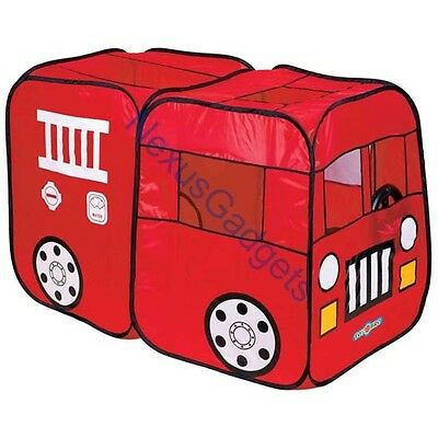 Fire Truck Engine Play Tent Red Playtent House Indoor PlayHouse Toysbro Kids Kid