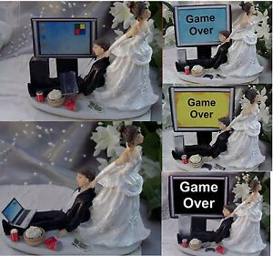 Hochzeitstorte Topper Computer Laptop Video Game Gamer Gaming Uber