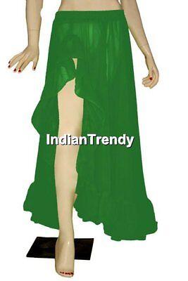 25Colr Ruffle Slit Skirt Belly Dance Costume Boho Gypsy