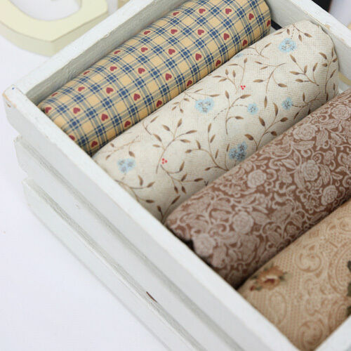 Country Brown Quilt Fabric Fat Quarter Bundle 4 FQ 100% Cotton Sewing Fabric