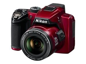 Nikon COOLPIX P500 12 1MP Digital Camera Red