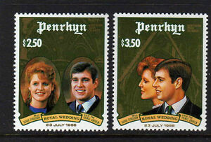 PENRHYN-IS-1986-ROYAL-WEDDING-SET-SG-400-401-MNH