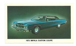 CHEVY-1973-Impala-Custom-Coupe-Chevrolet-Vtg-Postcard