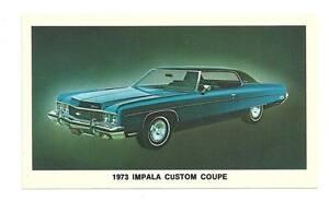 CHEVY-1973-Impala-Custom-Coupe-Chevrolet-Vtg-Postcard