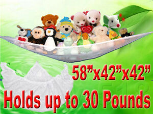 New-JUMBO-Deluxe-Pet-Organize-Corner-Stuffed-Animals-Toys-Toy-Hammock-Net