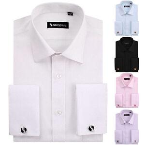 Non-iron-French-classic-style-cufflinks-elegant-jacquard-men-dress-shirt-ty401b