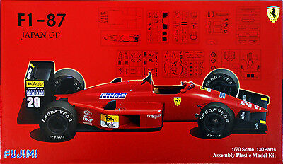 Fujimi GP27 F1 Ferrari F1-87 Japan GP 1/20 scale kit KLH