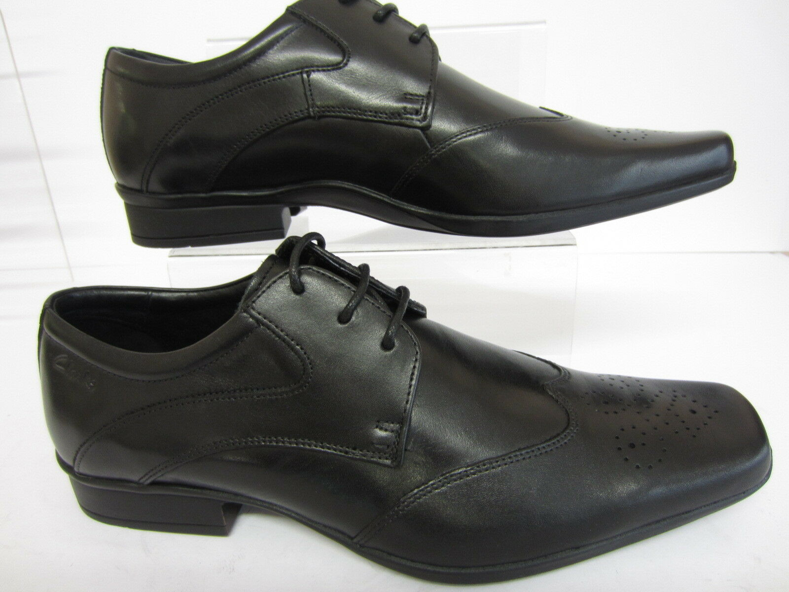 Clarks Affix Moscow Mens Black Leather Shoes Sizes UK 710 G Fitting R22F
