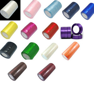 25-Yards-Satin-Ribbon-2-50mm-wide-choose-colour
