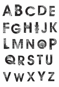 KAISERCRAFT-Clear-Rubber-Stamp-ALPHA-13th-HOUR-CS793-Alphabet-Stamping-Craft