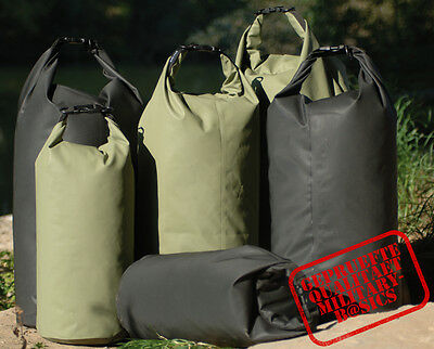 Transportsack Drybag wasserdicht 10 l 30 l oder 50 l schwarz oliv Seesack