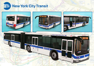 New York City MTA Articulated Bus With Opening Door 16 Inches long