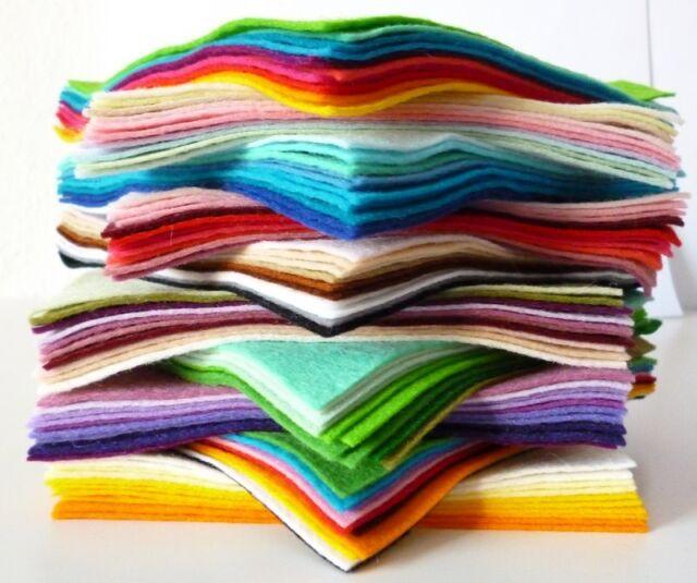 """12"""" Square COLOUR PACKS (10 pieces)  Premium Wool Blend Felt, 40% wool"""