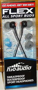 H2O-AUDIO-FLEX-WATERPROOF-HEADPHONES-EARBUDS-EARPHONES-BEACH-POOL-GYM-WORKOUT
