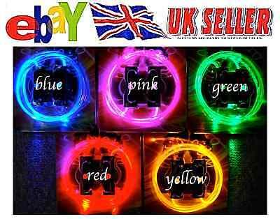 UK SELLER, LED Shoe Laces Boots FIBRE OPTIC Glow Flashing light