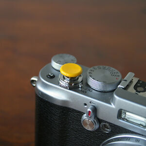 Yellow-Medium-Concave-Soft-Release-Button-for-Leica-M3-MP-M8-M9-X100-Nikon-Canon
