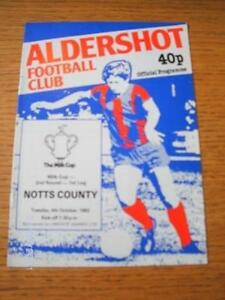 04101983 Aldershot v Notts County Football League Cup  No obvious faults u - <span itemprop=availableAtOrFrom>Birmingham, United Kingdom</span> - Returns accepted within 30 days after the item is delivered, if goods not as described. Buyer assumes responibilty for return proof of postage and costs. Most purchases from business s - Birmingham, United Kingdom