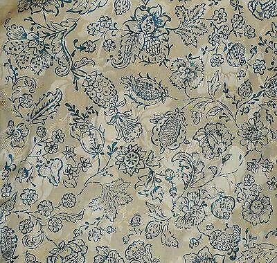 CHRISTOPHER HYLAND Cortis Romagna toile silk linen damask blue new 13+ yds  Como