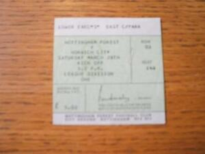 28-03-1981-Ticket-Nottingham-Forest-v-Norwich-City-No-obvious-faults-unless