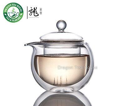 Double Wall Mini Glass Teapot w/t Infuser 150ml CK-092A