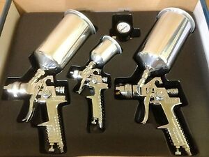 New-Professional-4pc-HVLP-Air-Spray-Paint-Gun-Set-Gravity-Car-Auto-Painting-Kit