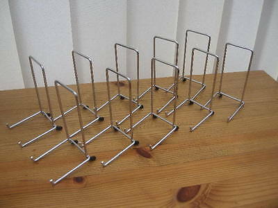 """10 X CHROME PLATE DISPLAY STANDS FOR UP TO 8"""" (20CM) ITEM (5""""/12cm tall approx)"""