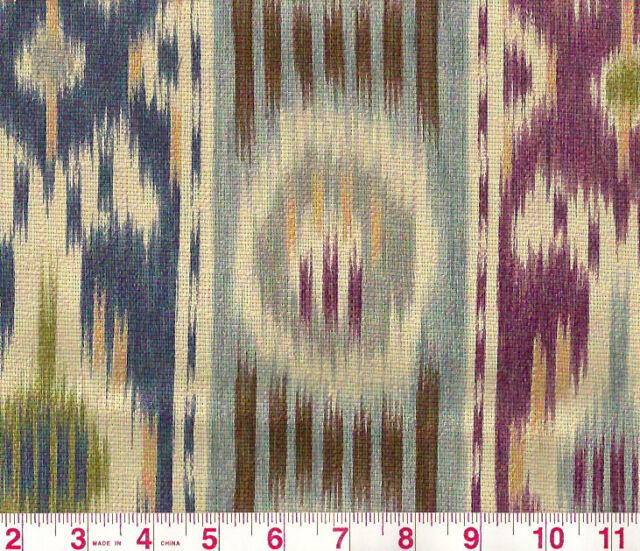 Ikat P Kaufmann Upholstery Drapery Fabric Harun Azure 002   ~ Free Samples
