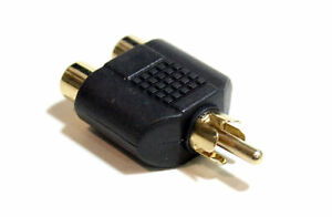 Adapter-2-RCA-Female-to-RCA-Male-Y-Splitter-Combiner-Plug-US-shipper