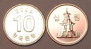 2008-South-Korea-10-Won-Coin-BU-Very-Nice-KM-103