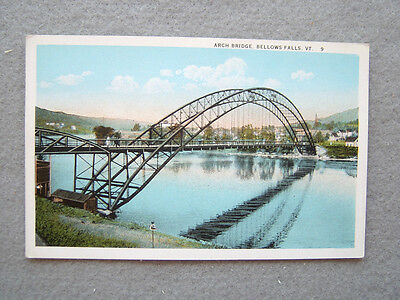ARCH BRIDGE, BELLOWS FALLS, VERMONT-EARLY 1900'S