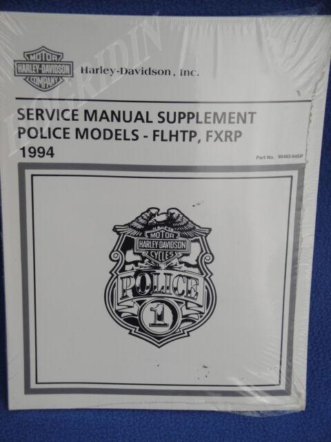 HARLEY DAVIDSON TOURING DYNA POLICE SERVICE MANUAL 1994 99483-94SP FLHTP FXRP